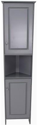Lloyd Pascal Devonshire Tall Corner Bathroom Cabinet - Painted Grey