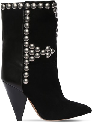 Isabel Marant 105mm Layo Suede & Leather Ankle Boots