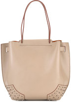 Tod's studded trim shoulder bag - women - Calf Leather/Suede - One Size