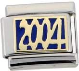 Sabrina Silver Stainless Steel 18k Gold 2004 Charm for Italian Charm Bracelets