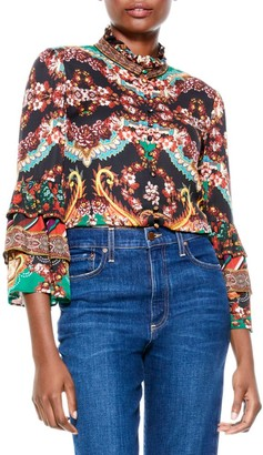 Alice + Olivia Liberty Tiered Ruffle Blouse