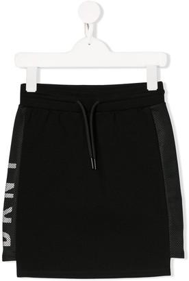 DKNY Mesh Logo Skirt