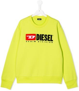 Diesel Embroidered Logo Patch Sweatshirt