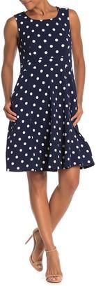 WEST KEI Polka Dot Knit Skater Dress