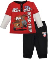 Disney Baby Boys' Cars Long Sleeve Shirt and Pants Set