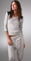 Maureen Sweatshirt with Leather Patch