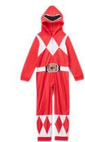 Intimo Power Ranger Red Fleece Hooded Suit Pajamas - Toddler & Boys