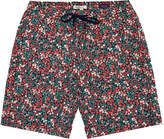 Onia Charles Red Liberty Art Flower Swim Shorts