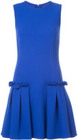 Oscar de la Renta pleated side detail dress - women - Cotton/Spandex/Elastane - 0
