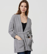 LOFT Striped Belted Cardigan