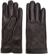Gucci GG Supreme debossed gloves - men - Nappa Leather - 8.5
