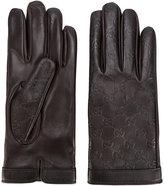 Gucci GG Supreme debossed gloves