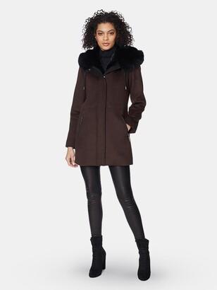 Dawn Levy Tiffany Wooded Hood Blend Duffle Coat