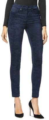 Good American Good Legs Crop Faux Suede Jeans in Navy01