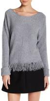 Luma Fringe Trim Long Sleeve Sweater