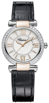 Chopard Stainless Steel, Rose Gold and Diamonds Imperiale Automatic Watch 28mm