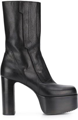 Rick Owens Platform Heeled Boots