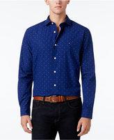 Tommy Hilfiger Men's Big & Tall Mullins Poplin Dobby Shirt