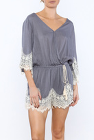Umgee USA Blue Lace Trim Romper