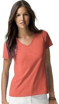 Hanes Women's Nano-T V-Neck T-Shirt Women's Tops