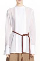 Rosetta Getty Pleat Tuxedo Shirt