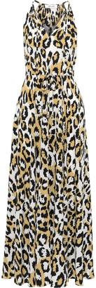 Diane von Furstenberg Sierra Gathered Printed Silk-crepe Maxi Dress