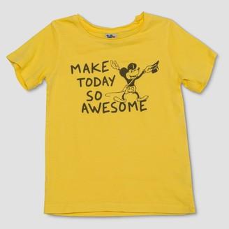 Junk Food Clothing Toddler Boys' Disney Mickey Mouse Short Sleeve T-Shirt -