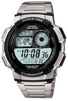 Casio Men's 10 Year Battery Digital Analog Watch - Silver (AE1000WD-1AV)