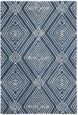 Lauren Ralph Lauren Isabella Hand-Tufted Wool/Cotton Indigo Area Rug Rug Size: Rectangle 4' x 6'
