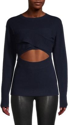IRO Cutout Merino Wool & Cashmere-Blend Top