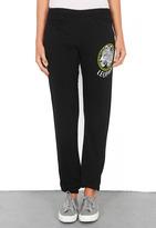 Lauren Moshi Dina Color Leopard Medallion Sweatpant in Black