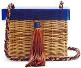 WAI WAI Betina woven-rattan box bag