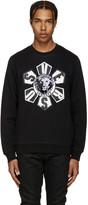 Versus Black Embroidered Logo Sweatshirt