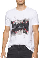 Calvin Klein Jeans Distress Molten Crewneck Tee