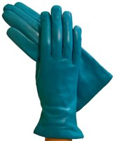 "Women's Italian Leather Gloves Lined in Cashmere. ""Simple"" By Solo Classe (Medium, )"