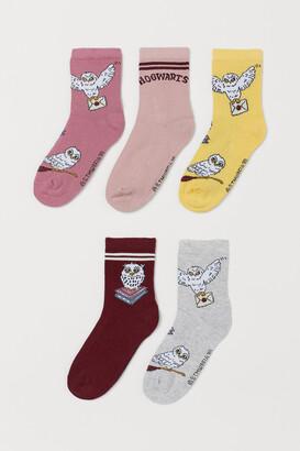H&M 5-pack Graphic-detail Socks