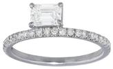 Jade Trau Emerald Cut Astor Ring - White Gold