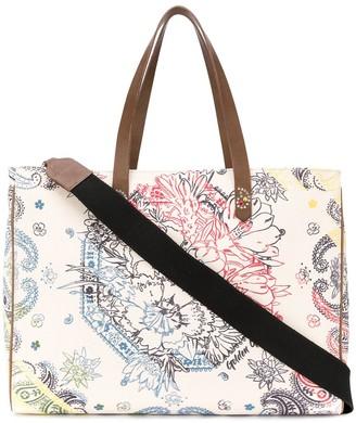 Golden Goose Bandana canvas tote bag