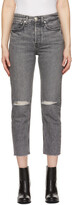 Thumbnail for your product : Rag & Bone Grey High-Rise Maya Jeans