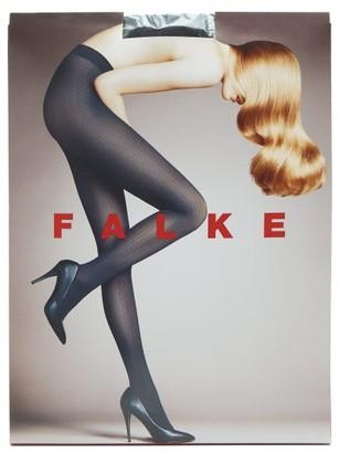 Falke Ribbed 50 Denier Tights - Womens - Black