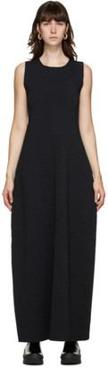Jil Sander Black Silk Knit Dress