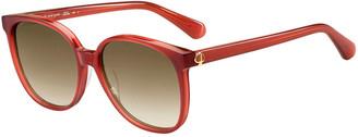 Kate Spade Aliannags Round Acetate Sunglasses