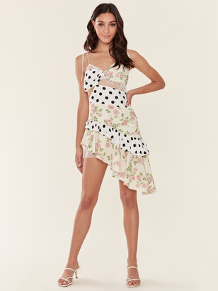 For Love & Lemons Butterscotch Tank Midi Dress