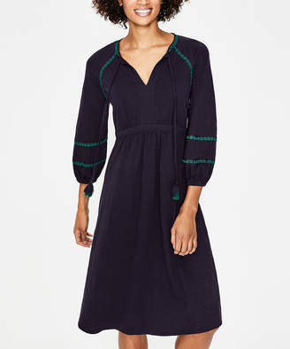 Boden Women's Casual Dresses NAV - Navy Heidi Jersey Peasant Dress - Women, Women's Tall & Petite