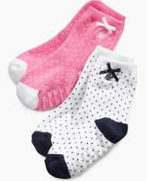 Ralph Lauren Socks, Baby Girls Pindot Crew Socks