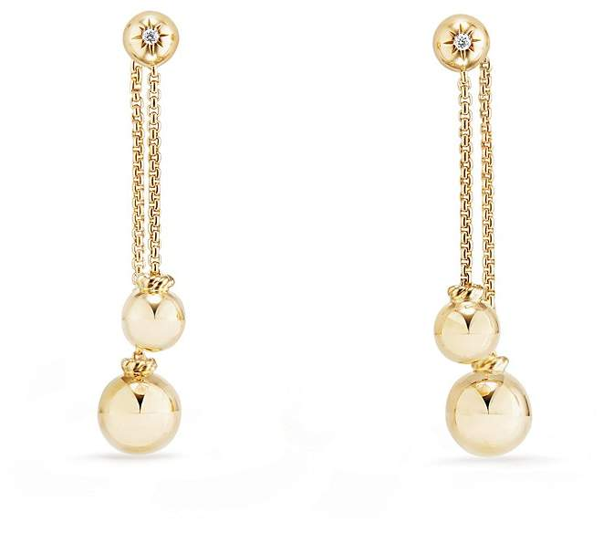 David Yurman Solari Chain Drop Earrings with Diamonds in 18K Gold
