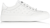 Jimmy Choo Ace Sport Ultra White Leather w/Mixed Stars Low Top Sneakers