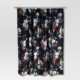 Threshold Floral Print Shower Curtain Blue