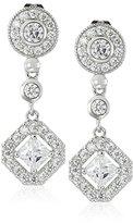 Cara Round Top with Diamond Drop Pave Drop Earrings