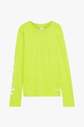 Reebok x Victoria Beckham Printed Neon Cotton-jersey Top
